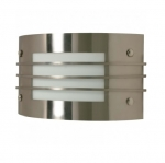 12in Wall Light Fixture w/ GU24 Bulb, Brushed Nickel