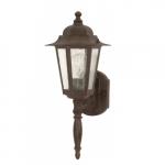 "Cornerstone, 18"" Wall Lantern Light, Clear Seeded Glass, Old Bronze Finish"
