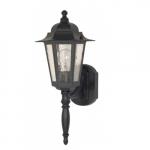"Cornerstone, 18"" Wall Lantern Light, Textured Black Finish"