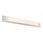 "Bow LED 39"" Vanity Light Fixture, Brushed Nickel, Frosted Acrylic"