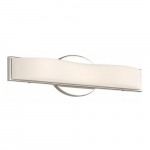 "Surf LED 16"" Vanity Light Fixture, Polished Nickel, Frosted Acrylic"