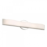 "Surf LED 26"" Vanity Light Fixture, Polished Nickel, Frosted Acrylic"