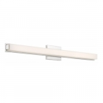 "Slick LED 36"" Vanity Light Fixture, Polished Nickel, Frosted Acrylic"