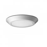 10.5W LED Flush Mount Light Fixture, Disk Light, White