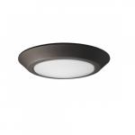 12W LED Flush Mount Light Fixture, Disk Light, Brushed Nickel