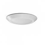 12W LED Flush Mount Light Fixture, Disk Light, Mahogany Bronze