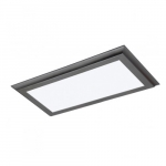 22W, Blink Plus Surface Mount LED Light Fixture, Gunmetal Grey Finish