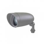 6W LED Outdoor Landscape Flood Light Fixture, Light Gray