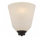 9.8W Calvin Wall Sconce Light, Satin White, 1-Light, Mahogany Bronze