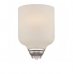 9W Kirk LED Wall Sconce Light, 1-Light, Polished Nickel
