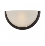 10.5W Dylan Wall Sconce Light, Etched Opal, Mahogany Bronze