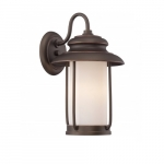 Bethany 9.8W LED Outdoor Small Wall Light, Satin White Glass