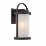 Willis LED Outdoor Small Wall Light, 9.8W bulb, Antique White Glass