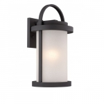 Willis LED Outdoor Large Wall Light, 9.8W bulb, Antique White Glass