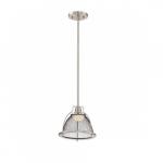 12W Tex LED Pendant Light, Small, Brushed Nickel