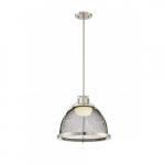 15W Tex LED Pendant Light, Large, Brushed Nickel