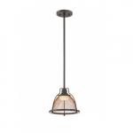 12W Tex LED Pendant Light, Small, Bronze