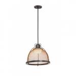 15W Tex LED Pendant Light, Large, Bronze
