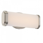 13W Pace Single LED Wall Sconce Light, Brushed Nickel, LED Light