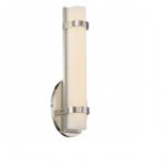 13W Slice LED Wall Sconce, Single, Polished Nickel