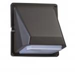 11W LED Wall Pack Light, Bronze, 5000K