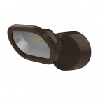 14W LED Security Flood Light, Single Head, Bronze, 4000K