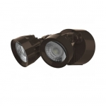 24W LED Security Light, Dual Head, Bronze, 4000K
