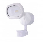 14W LED Security Flood Light w/ Motion Sensor, Single Head, White, 4000K