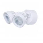 24W LED Security Light, Dual Head, White, 4000K