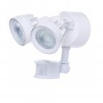 24W LED Security Light w/ Motion Sensor, Dual Head, White, 4000K