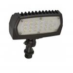 29W LED Flood Light, 3307 Lumens, Bronze, 5000K