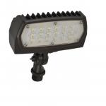 12W LED Flood Light, Adjustable Neck, 1475 Lumens, Bronze, 5000K