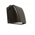 18W LED Wall Pack, Small, Bronze, 2700 lm, 5000K