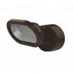14W LED Security Light, Single Head, Bronze, 3000K