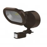 14W LED Security Light w/ Motion Sensor, Single Head, Bronze, 3000K