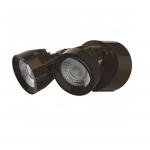 24W LED Security Light, Dual Head, Bronze, 3000K