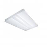 65W 2x4 LED Troffer, White, 3500K