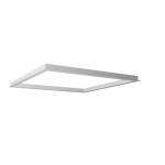 2x2 LED Flat Panel Flange Kit, White
