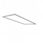 2x4 LED Flat Panel Flange Kit, White