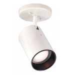 Semi-Flush Mount Close-to-Ceiling Straight Cylinder R20 Light Fixture