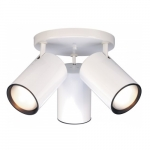 3-Light Semi-Flush Mount Straight Cylinder R30 Light Fixture