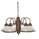 22in Chandelier Light Fixture, 5-Light, Old Bronze