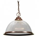 15in Pendant Light Fixture, 1-Light, Old Bronze