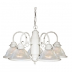 22in Chandelier Light, 5-Light, Textured White