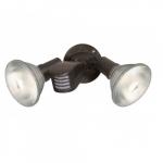 "10"" Outdoor Security Flood Light, Adjustable Swivel and Motion Sensor, Bronze"