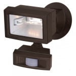 150W Outdoor Security Flood Light, Motion Sensor, Bronze Finish