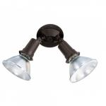 """10"""" Outdoor Security Flood Light, Adjustable Swivel, Bronze"""