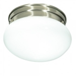 "8"" Flush Mount Light, Brushed Nickel"