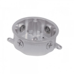 Die Cast Outdoor Electrical Junction Box, Metallic Silver
