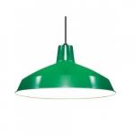 Warehouse Shade Pendant Light Fixture, Green